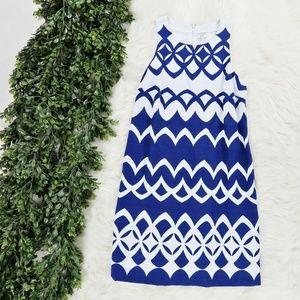 crown & ivy Geometric Color Block Sheath Dress - 6